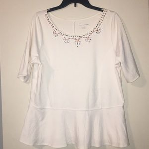 White lane Bryant top